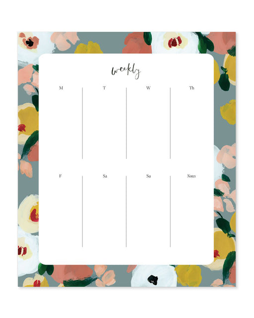 Our Heiday:Agenda Pad – Dusk Florals,ANOMIE