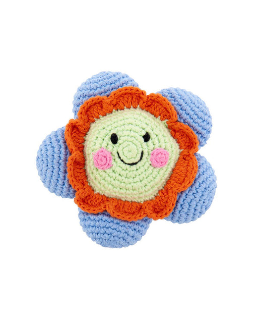 Friendly Flower Rattle – Blue