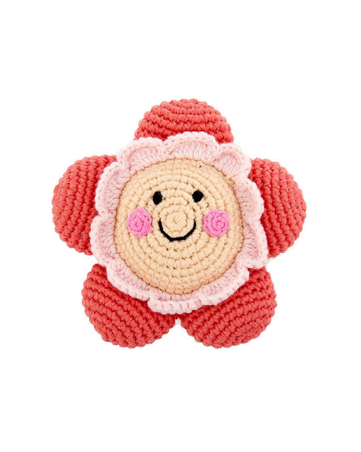 Friendly Flower Rattle – Coral