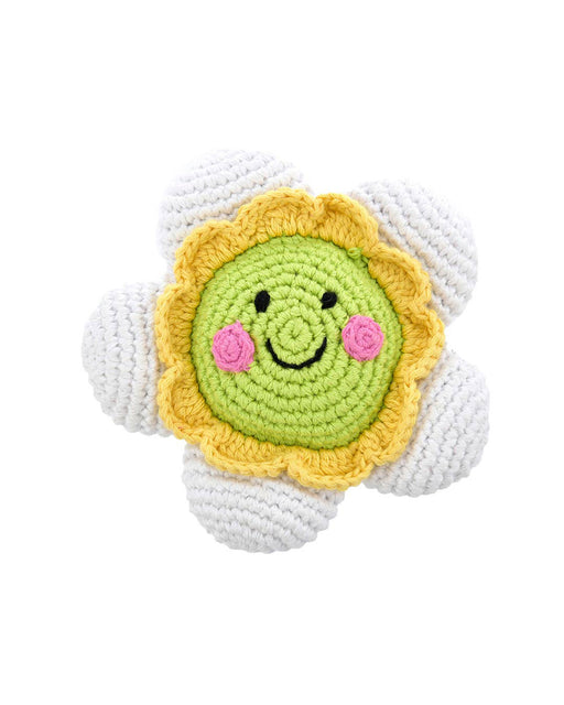 Friendly Flower Rattle – White