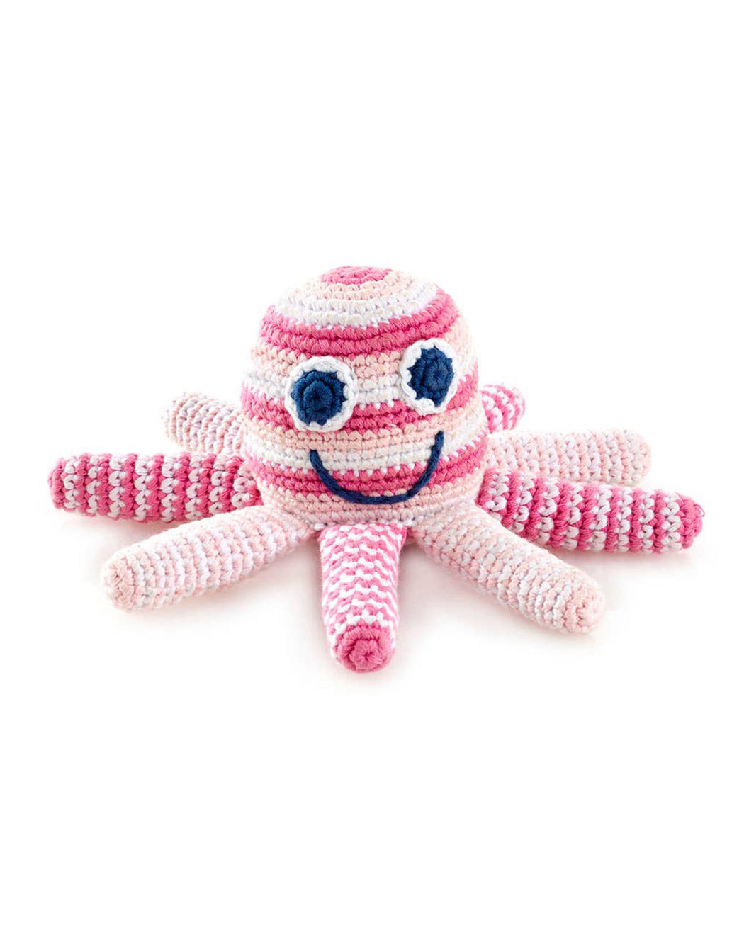 Octopus Rattle – Pale Pink