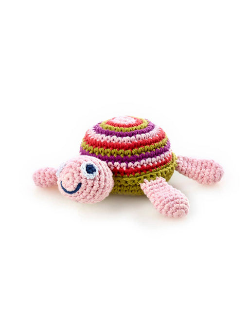 Sea Turtle Rattle – Pink