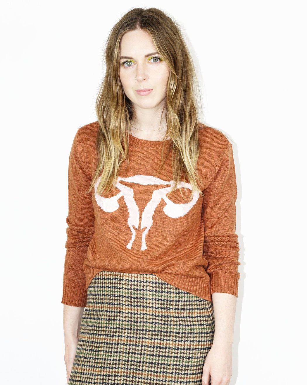Rachel Antonoff:Randy's Reproduction System Sweater – Cinnamon,ANOMIE