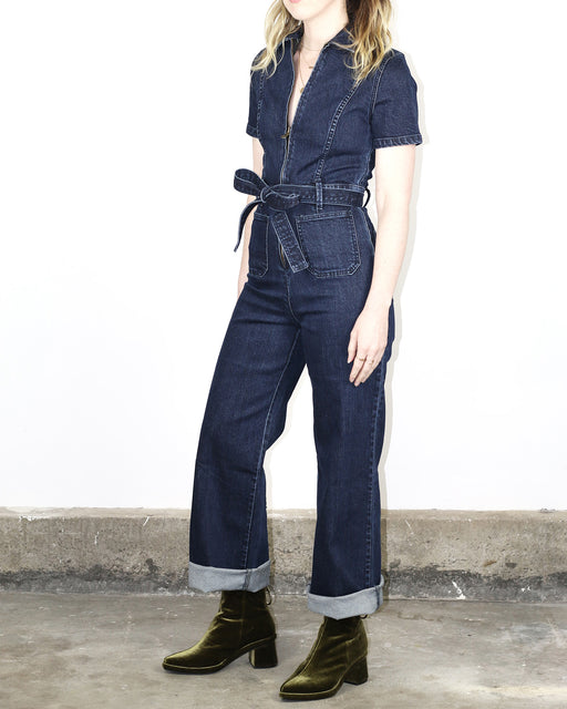 Rachel Antonoff:Sal Stretch Jumpsuit,dark denim | SOLD OUT / 2 - extra-small