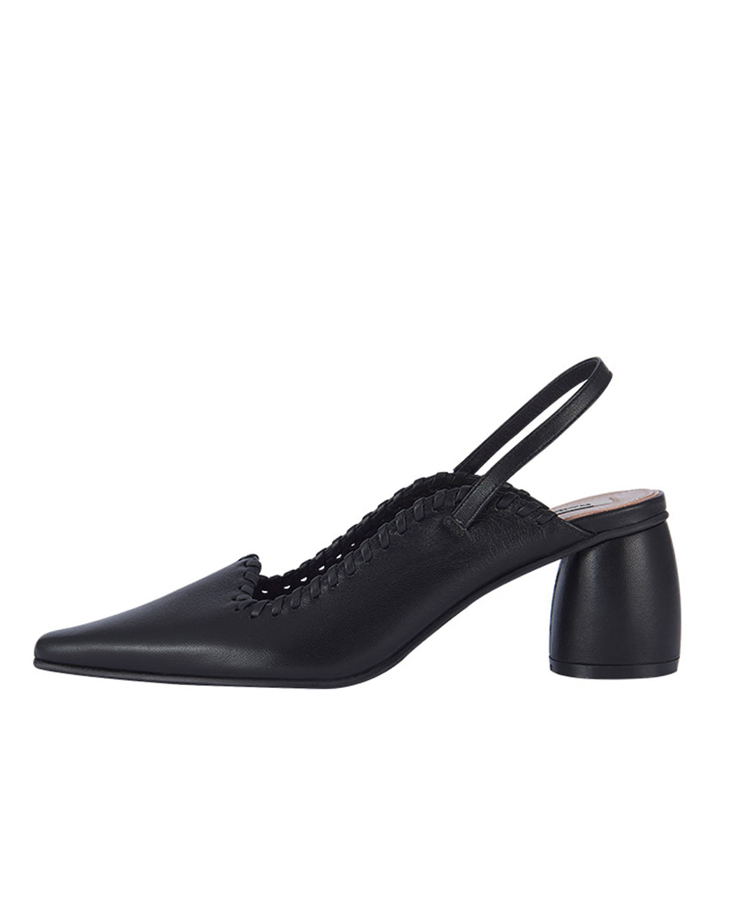 Reike Nen:Curved Middle Slingback – Black,ANOMIE