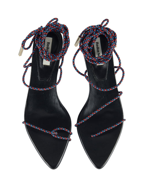 Reike Nen:Odd Pair Sandals – Black, Red, + Blue String,ANOMIE