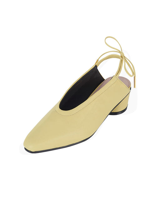 Reike Nen:Ribbon Clear Slingback – Lemon,ANOMIE