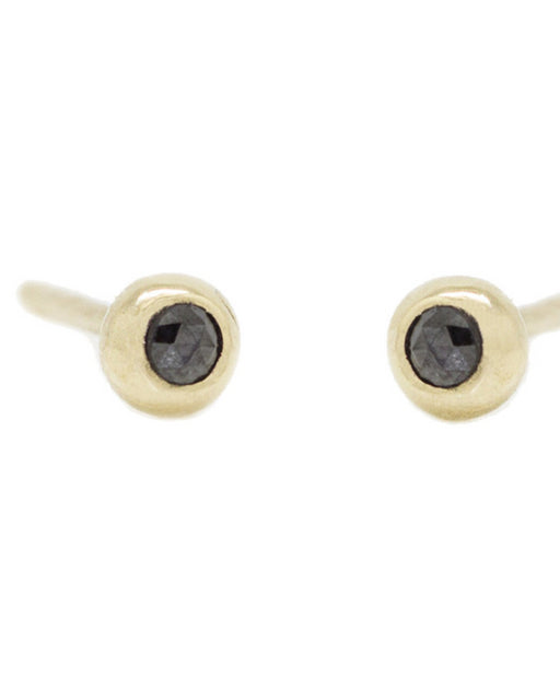 Claire Kinder:Pip Studs – Black Diamond,ANOMIE