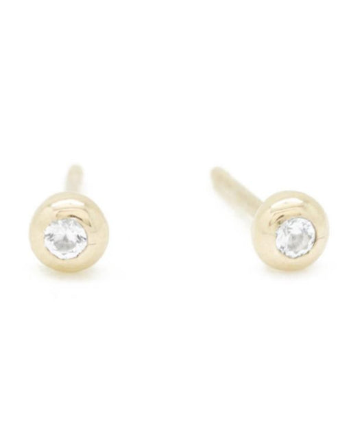 White Diamond Pip Studs