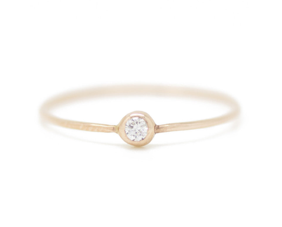 Claire Kinder:White Diamond Pip Ring,ANOMIE
