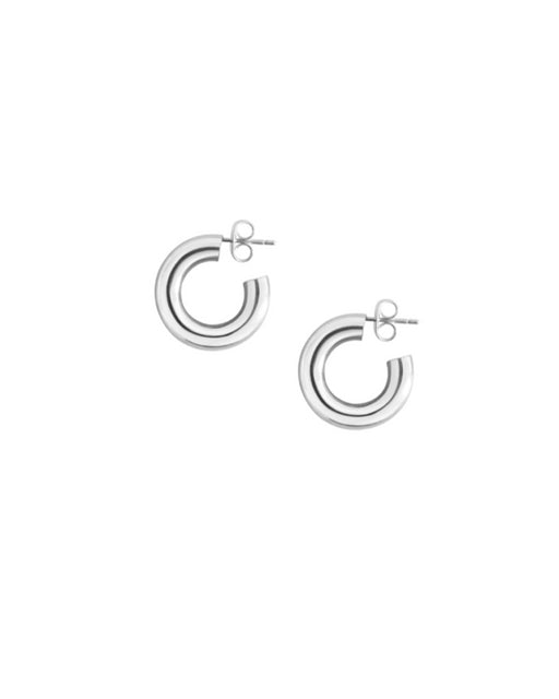 Laura Lombardi:Mini Hoop Earrings – Sterling Silver,ANOMIE