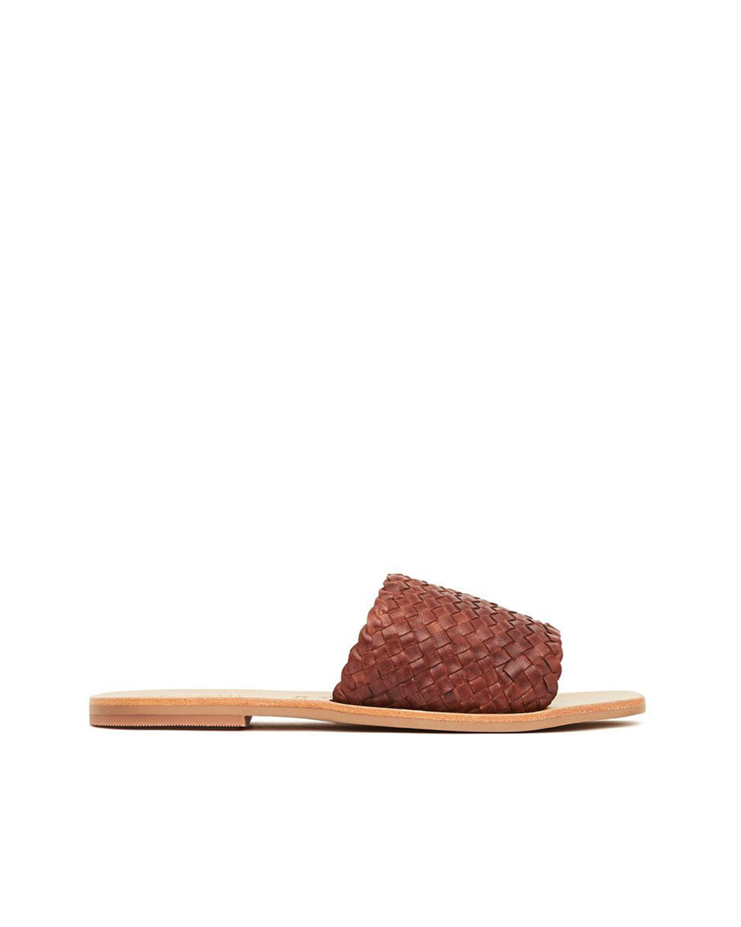 ST. AGNI:Alice Woven Slide – Antique Tan,ANOMIE