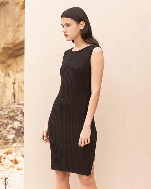 ST. AGNI:Gia Knit Dress – Black,ANOMIE