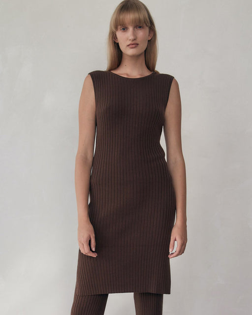 ST. AGNI:Gia Knit Dress – Cocoa,ANOMIE