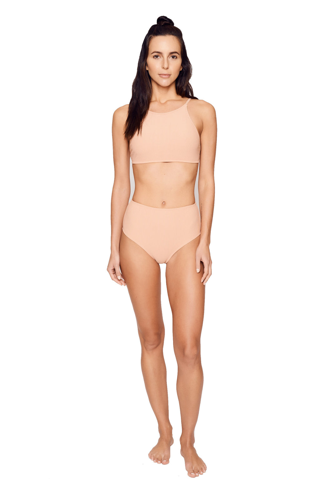 Static Swimwear:vine swim top,nude rib / large | FINAL SALE