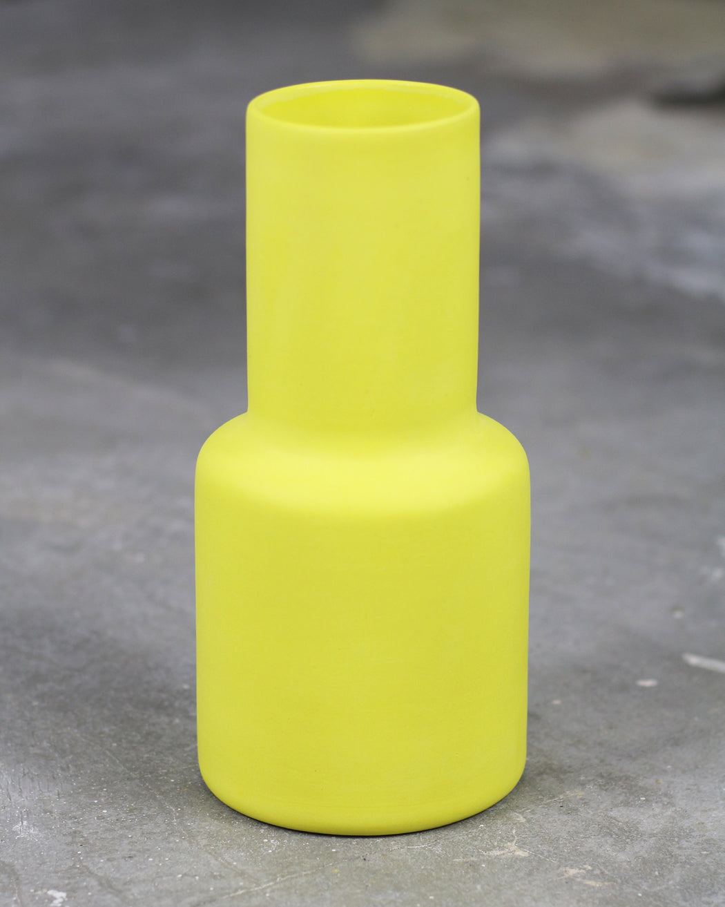 The Granite:Epoca Vase – Solid,vibrant yellow