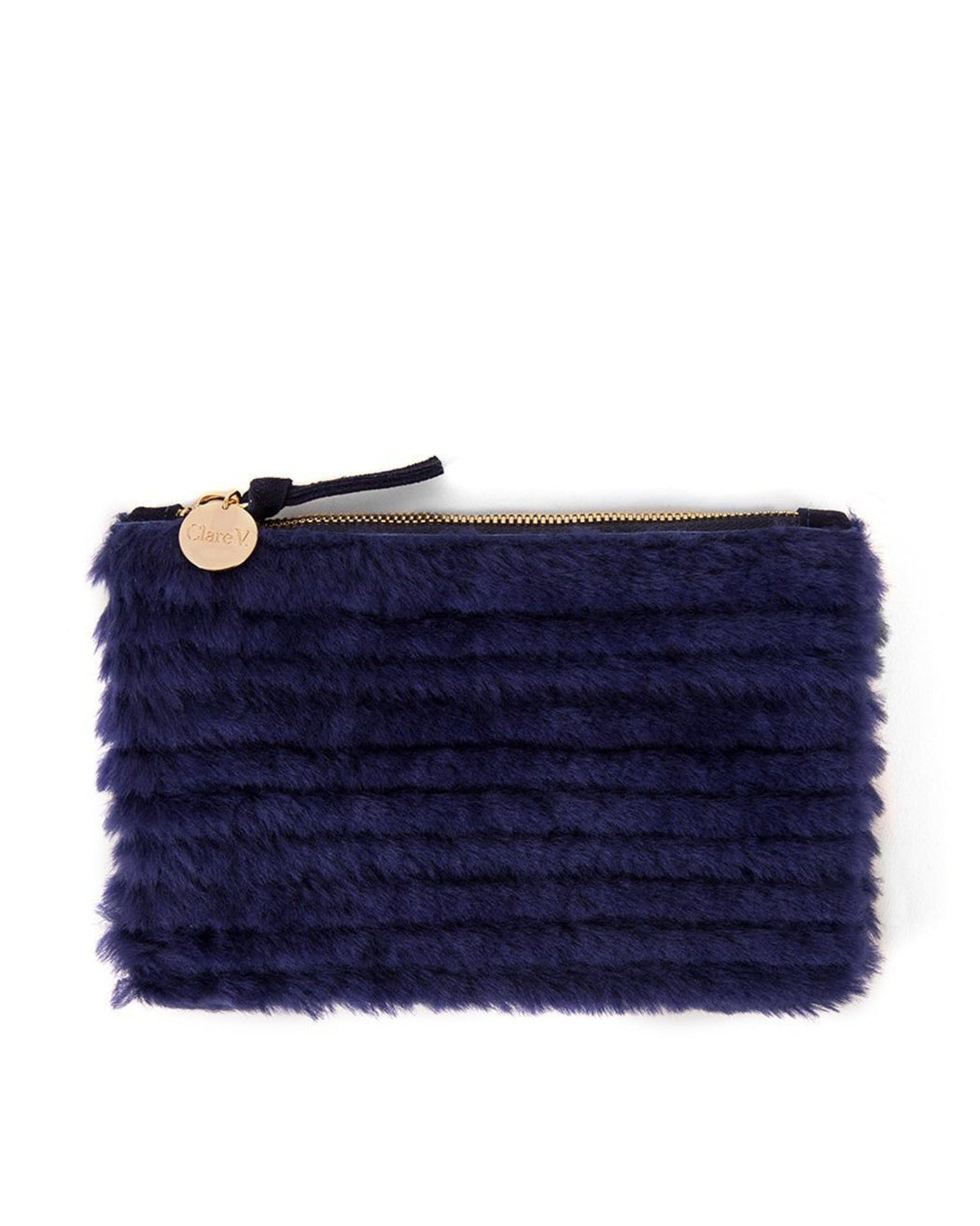 Clare V.:Wallet Clutch – Midnight Hair-On,ANOMIE