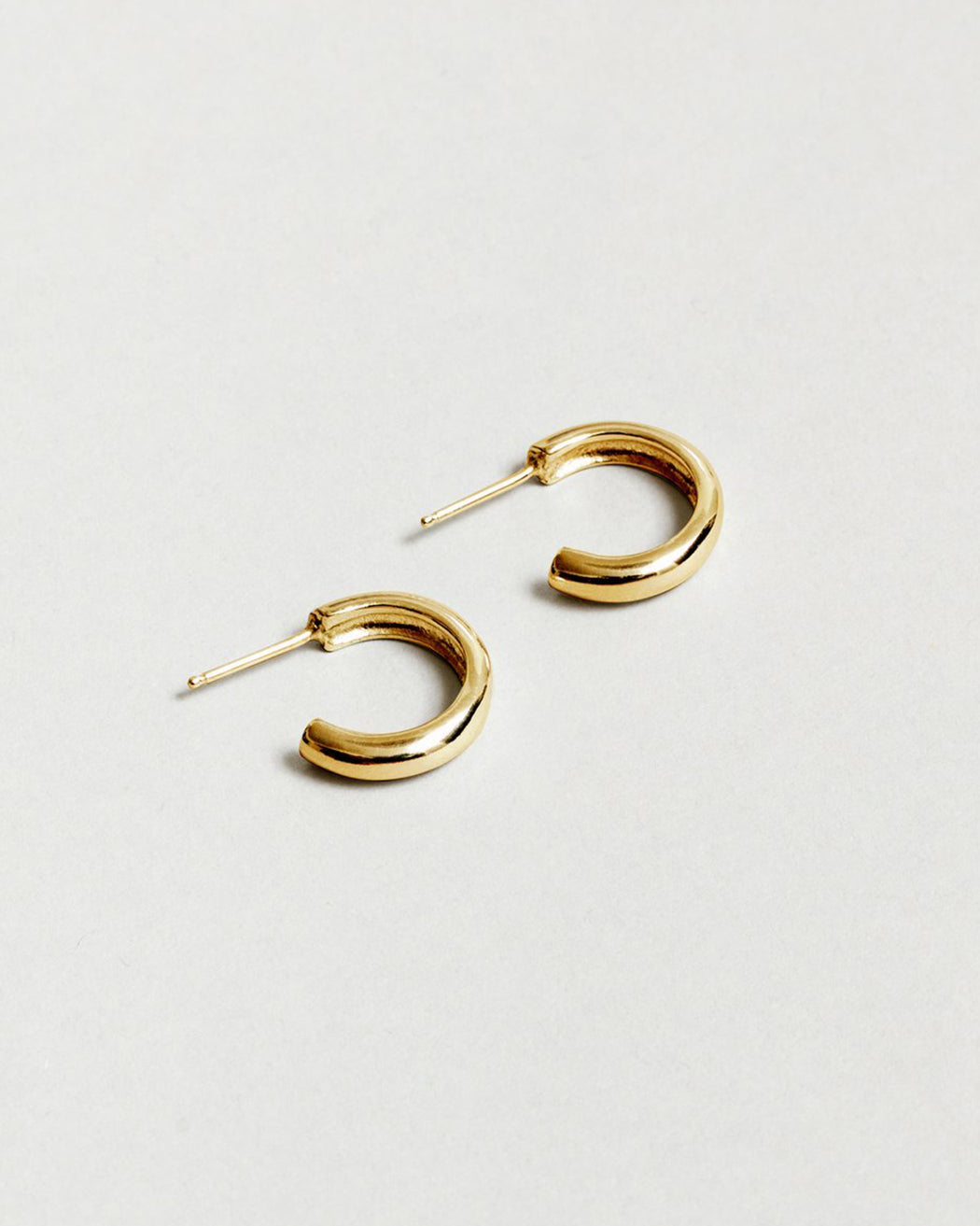 Large Abbie Hoops – Gold Plated