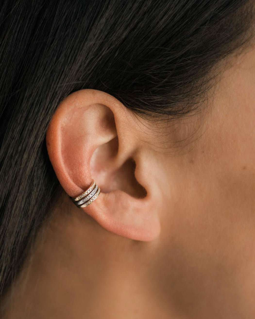 Zoe Lev:Diamond Ear Cuff,ANOMIE