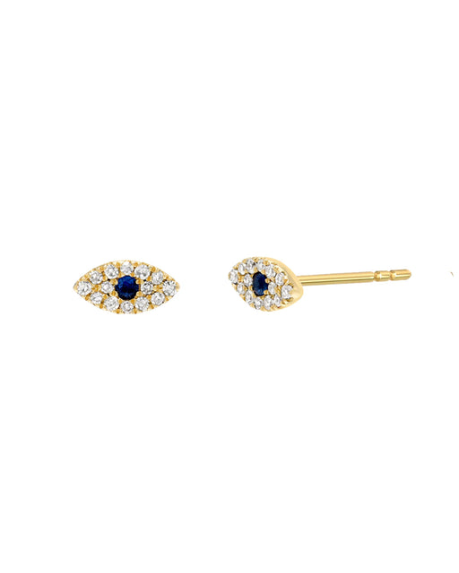 Diamond Evil Eye Earrings – Mini