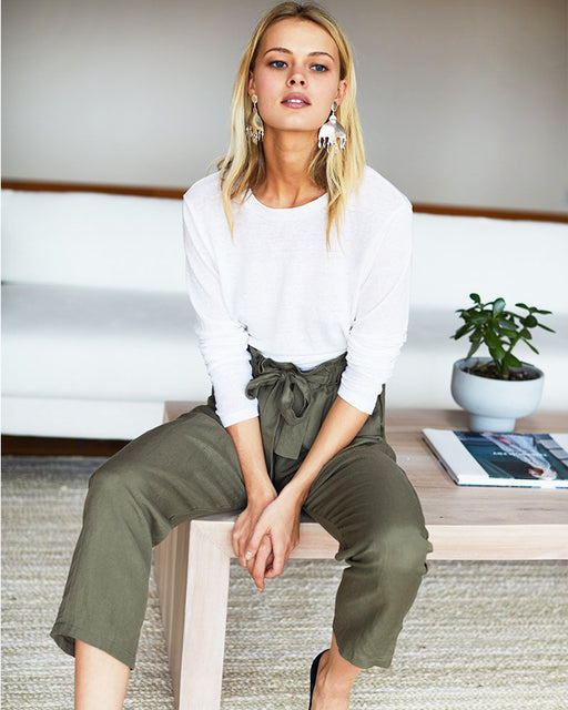 Paris Pant – Army Linen
