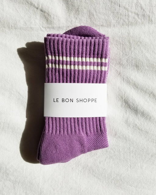 Boyfriend Socks – Grape