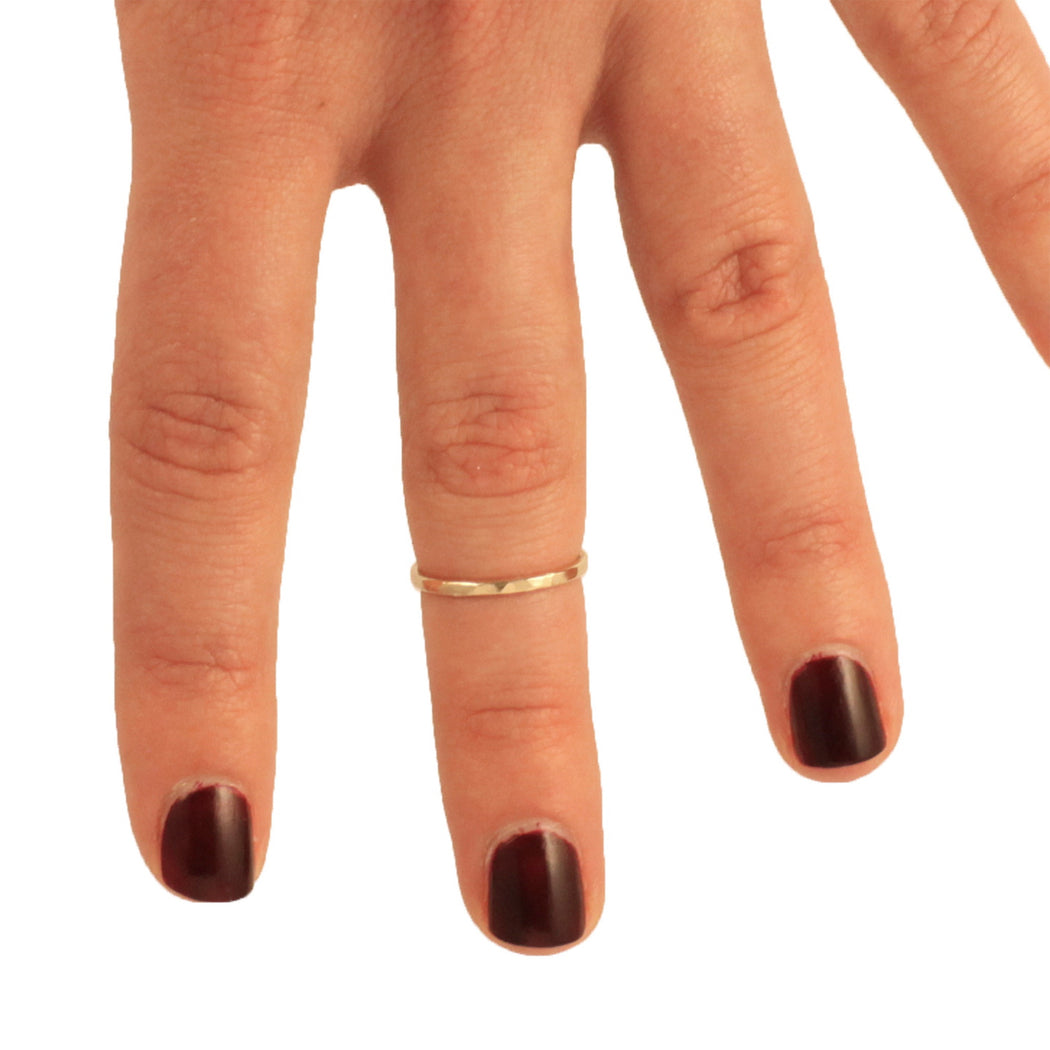 Nadine Jewelry:hammered knuckle ring,ANOMIE
