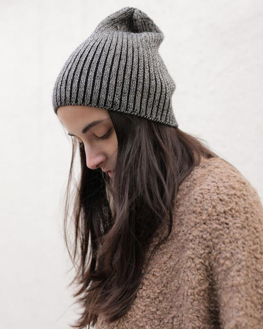 Plaited Ribbed Knit Hat