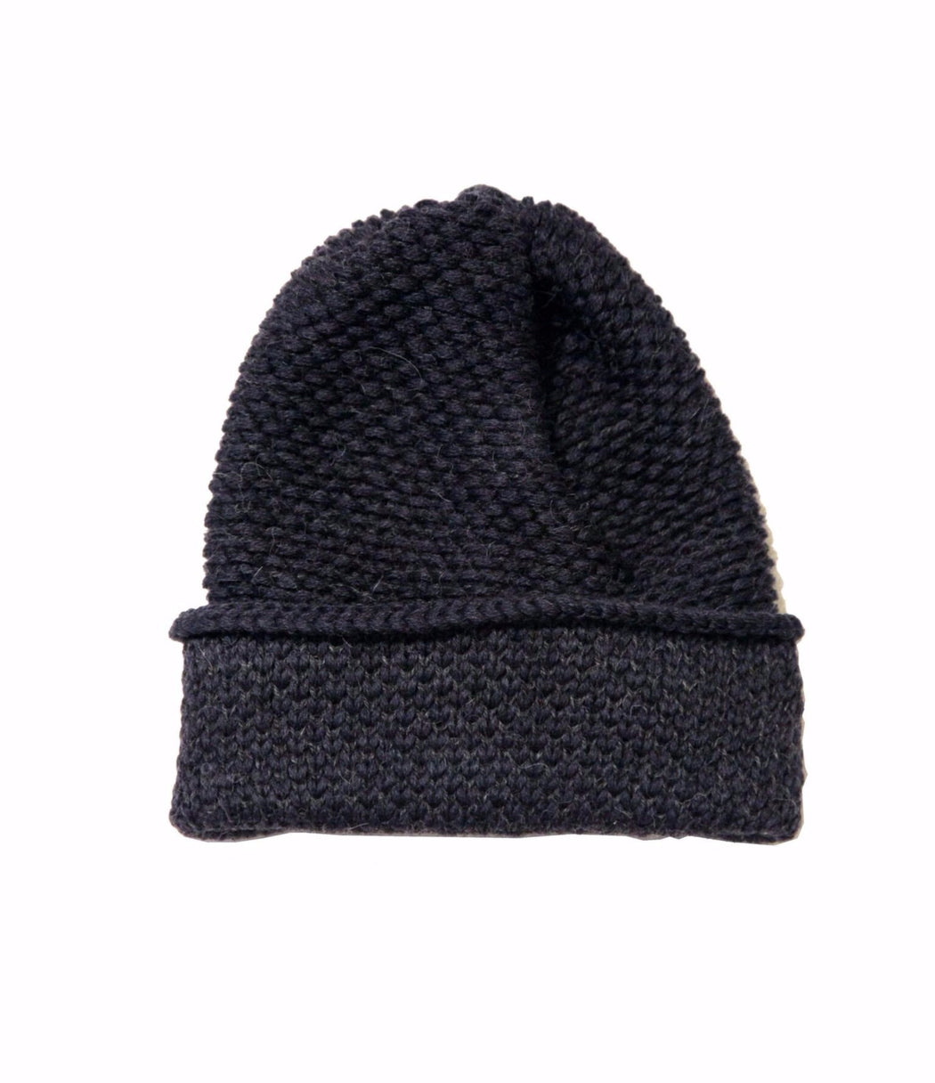 Kordal:Seed Stitch Beanie,navy + dark grey | SOLD OUT