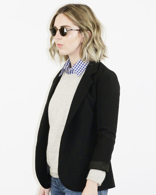 Le Cou:wakefield dickey // blue gingham,ANOMIE