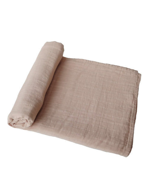 Organic Cotton Swaddle Blanket – Pale Taupe