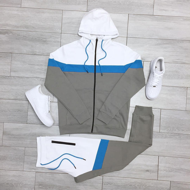Color block leisure sports suit