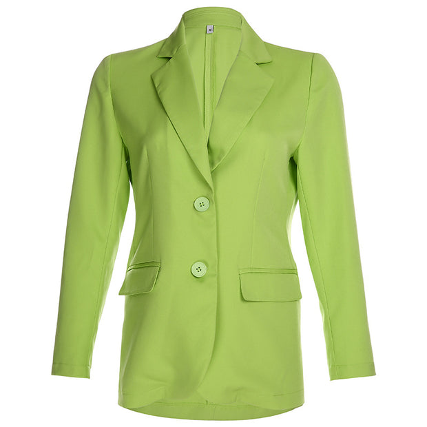 Buttons design fashion women blazer with pockets