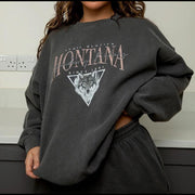 Wolf print fashion sweatshirt