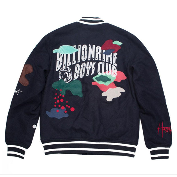 Billionaires club graffiti color block sports jacket
