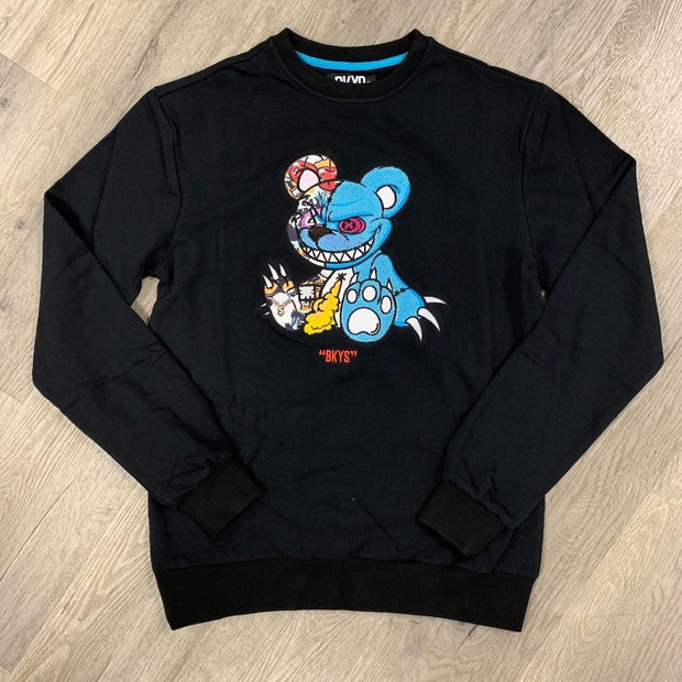 Spoof panda printing crew neck sweater