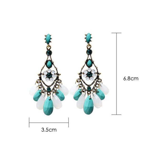 Bridal dress long tassel temperament Bohemian national style retro Earrings fresh out with evening Earrings