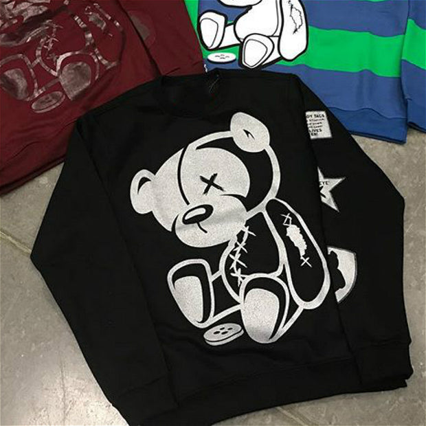 Bear print fashion streetwear sweatshirt