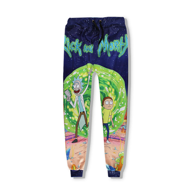 3D Anime Rick Sports Casual Pants