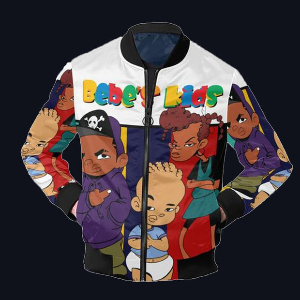 Funny cartoon character print jacket