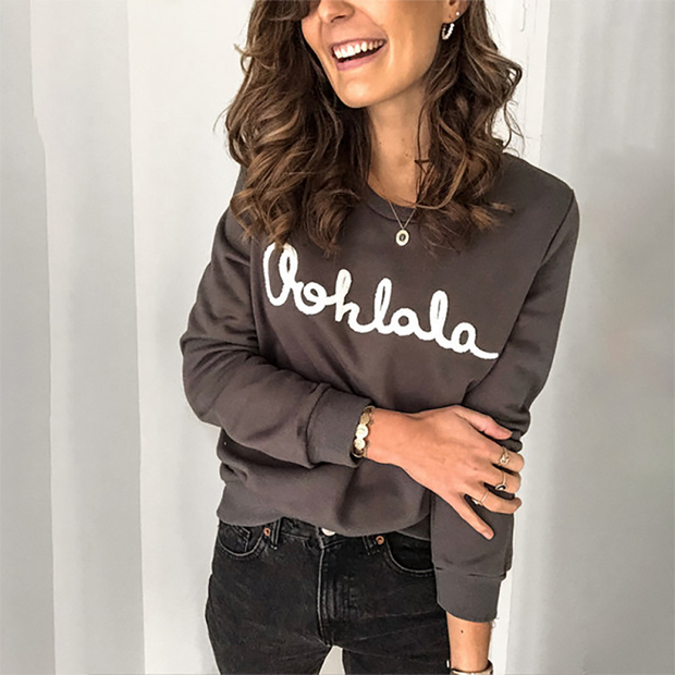 Women's Casual Lettering Long Sleeve Sweatshirt