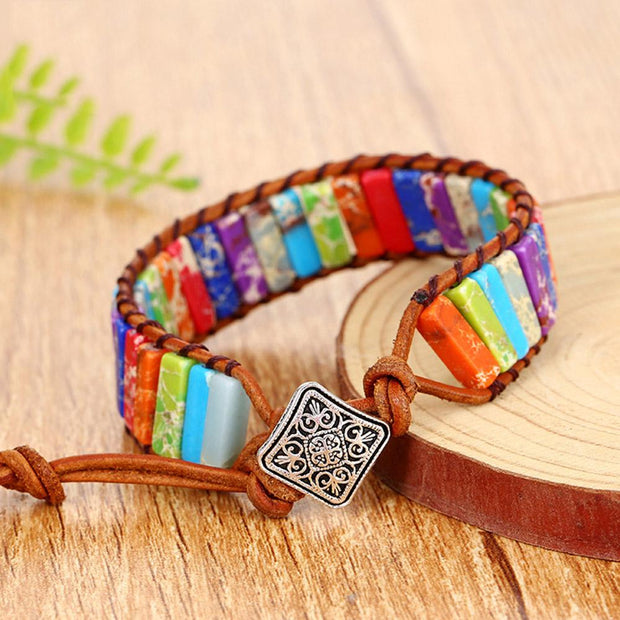 Hand strings, Emperor stone bracelets, hand woven leather Bohemia creative hand ornaments
