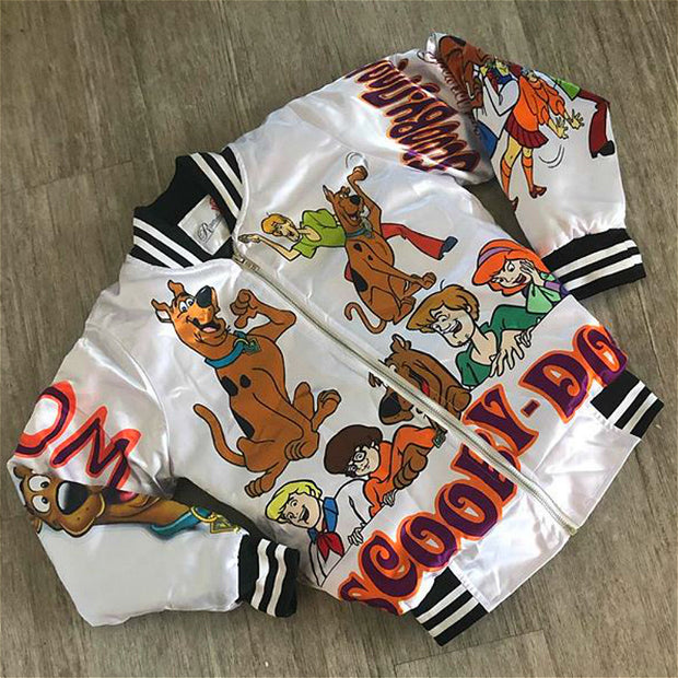 Cartoon print cute streetwear jacket