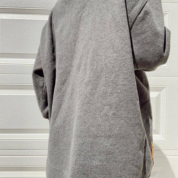 Round neck basic casual long sleeve sweatshirt