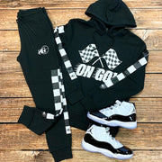 Flag sports hooded suit