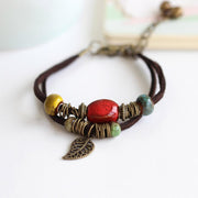 Special handmade Bohemian ceramics DIY women's hot sale South Korean velveteen Bracelet accessories wholesale