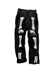 Bone print casual pants
