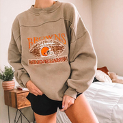 Women's Fashion Round Neck Embroidered Loose Sweatshirt