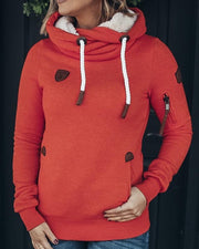 High collar hooded Pullover