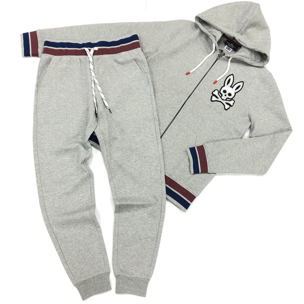 Grey fashion bunny print sports suit